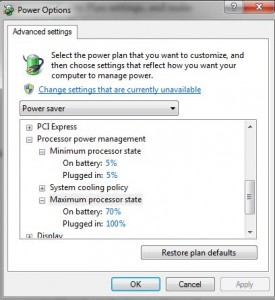 Power Saver Windows 7